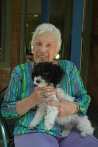 In good hands with Jean Craighead George at her home in 2010