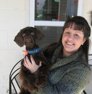 Joe, a Cocker Spaniel who was lost and brought in from Mount Kisco by a good Samaritan, gets lots of TLC from Lisa Bonnano-Spence, Development Manager at SPCA of Westchester in Briarcliff Manor