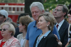 President Clinton smiles with pride at then – Sen. Hillary Rodham Clinton at the Memorial Day Ceremony in May 2006 © Ronni Diamondstein, All Rights Reserved.